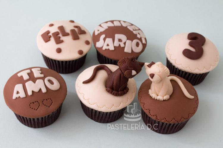 Cupcakes personalizados temáticos en Bogotá aniversario y gatitos