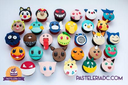 Cupcakes personalizados temáticos en Bogotá Pokemon
