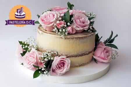 Ponqué Pastel Torta semi desnuda Naked Cake en Bogotá Cumpleaños