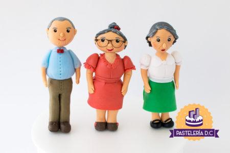Toppers Figuras personalizadas Abuelitos Ponqué Pastel Torta personalizada en Bogotá