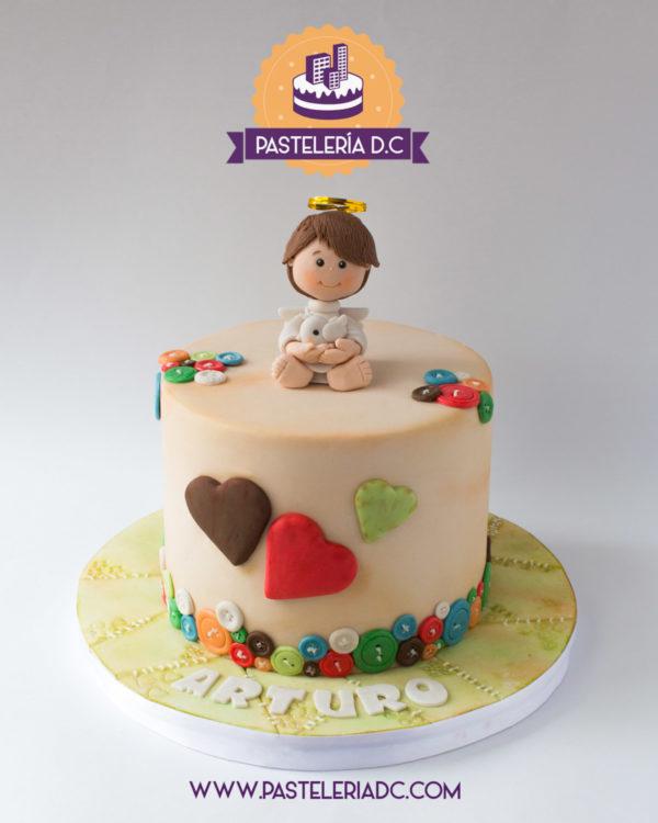Ponqué Pastel Torta personalizada en Bogotá Bautizo Angelito