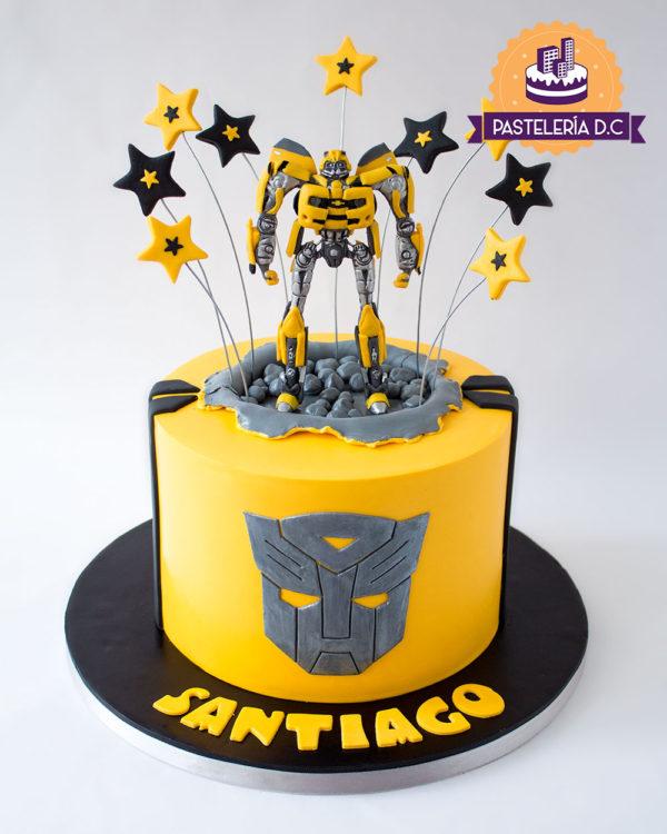 Ponqué Pastel Torta personalizada en Bogotá Bumblebee Transformers