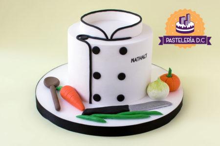 Ponqué Pastel Torta personalizada en Bogotá Chef cocinera o cocinero