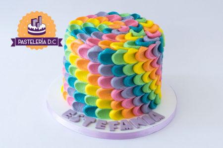 Ponqué pastel Torta crema de colores en Bogotá