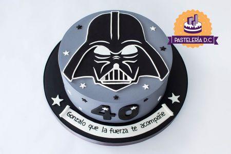 Ponqué Pastel Torta personalizada en Bogotá Darth Vader Star Wars