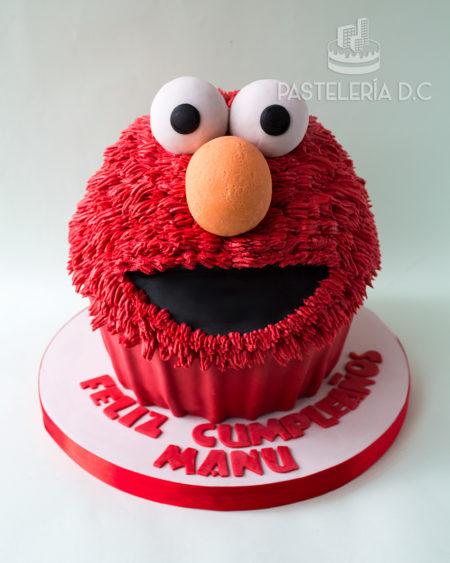 torta-elmo-cupcake-gigante