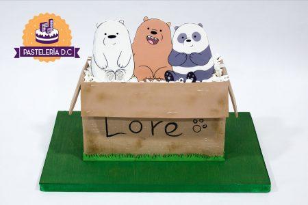 Ponqué Pastel Torta personalizada en Bogotá Osos Escandalosos