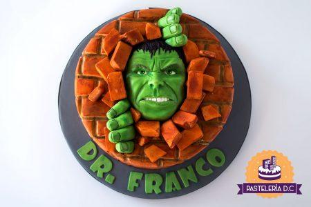 Ponqué Pastel Torta personalizada en Bogotá Hulk