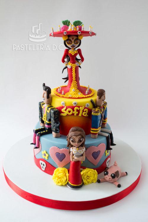 Ponqué Pastel Torta personalizada en Bogotá Libro de la Vida o Book of Life