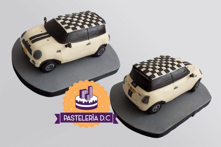 Ponqué Pastel Torta personalizada en Bogotá MINI Cooper réplica