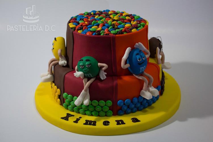 Ponqué Pastel Torta personalizada en Bogotá m&ms mms myms