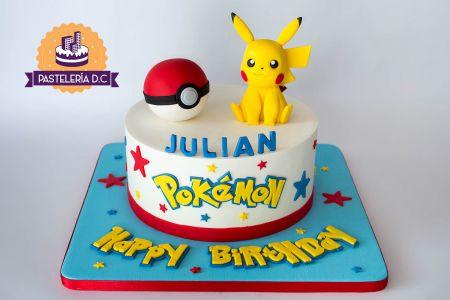 Ponqué Pastel Torta personalizada en Bogotá Pikachu Pokemon