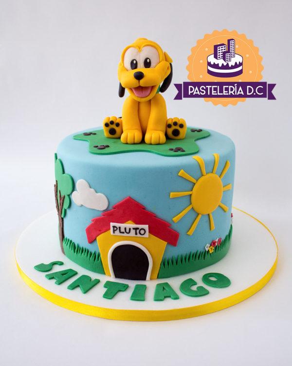 Ponqué Pastel Torta personalizada en Bogotá bebé Pluto