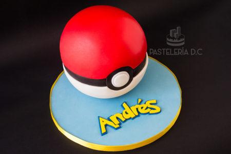 Ponqué Pastel Torta personalizada en Bogotá Pokebola Pokemon