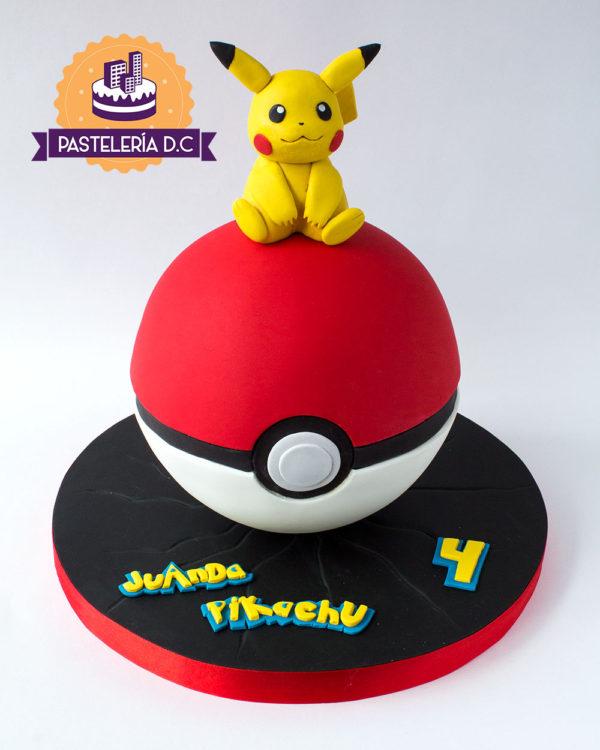 Ponqué Pastel Torta personalizada en Bogotá Pokebola Pokemon Pikachu